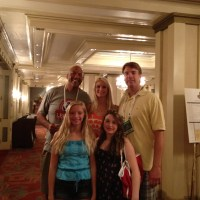 James Donaldson, Jim and Gwendolyn McIlvaine and Family at Legends of Basketball Conference in New Orleans - August 2012