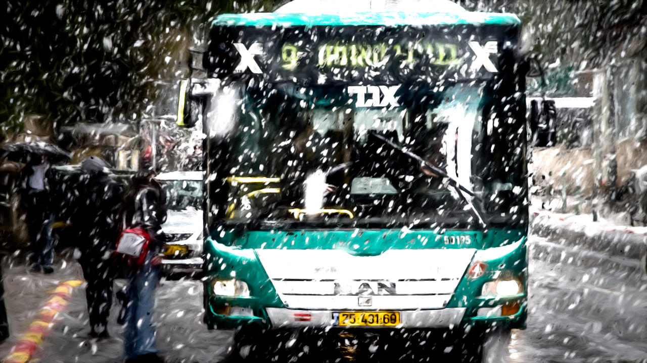 Sheleg! Snow in Jerusalem