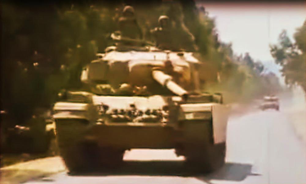 Israeli Tanks on the Golan Heights during 1973 Yom Kippur War