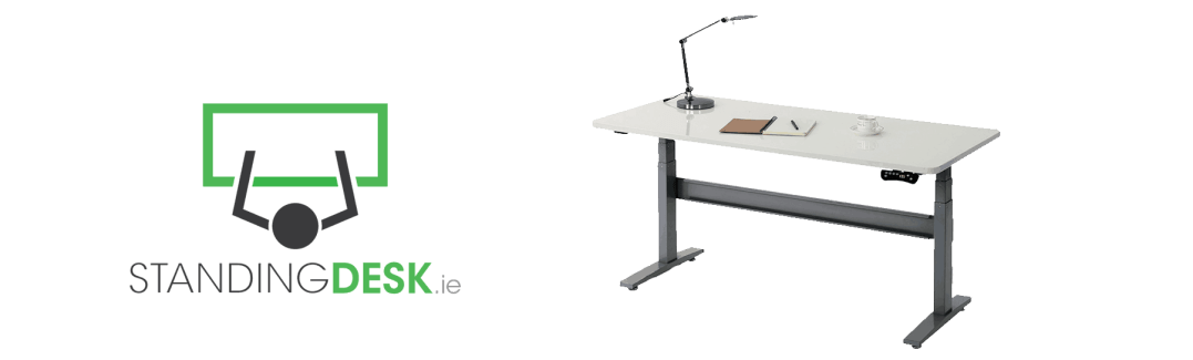 Standing Desk logo and motorized height adjustable desk