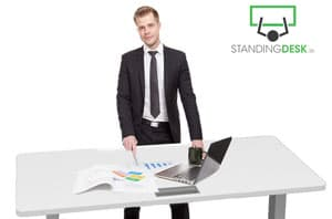 Standing Desk and office worker