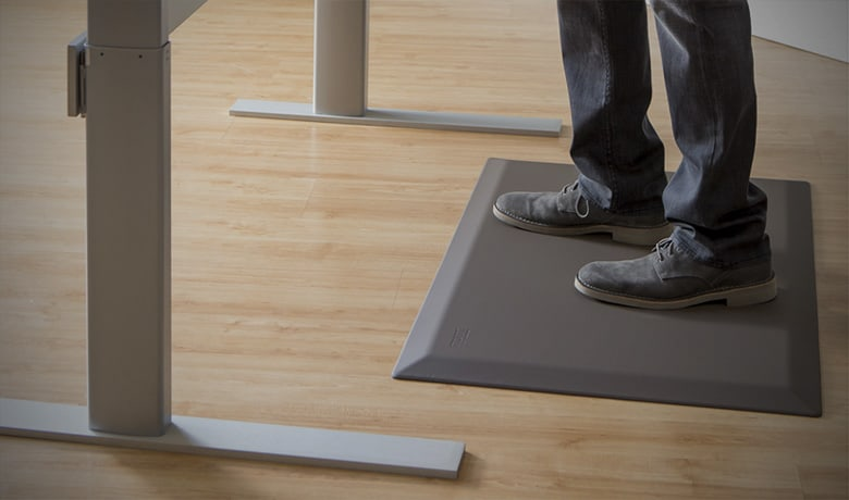 cushioned kitchen mats island light anti-fatigue - how to use rubber with a standing ...
