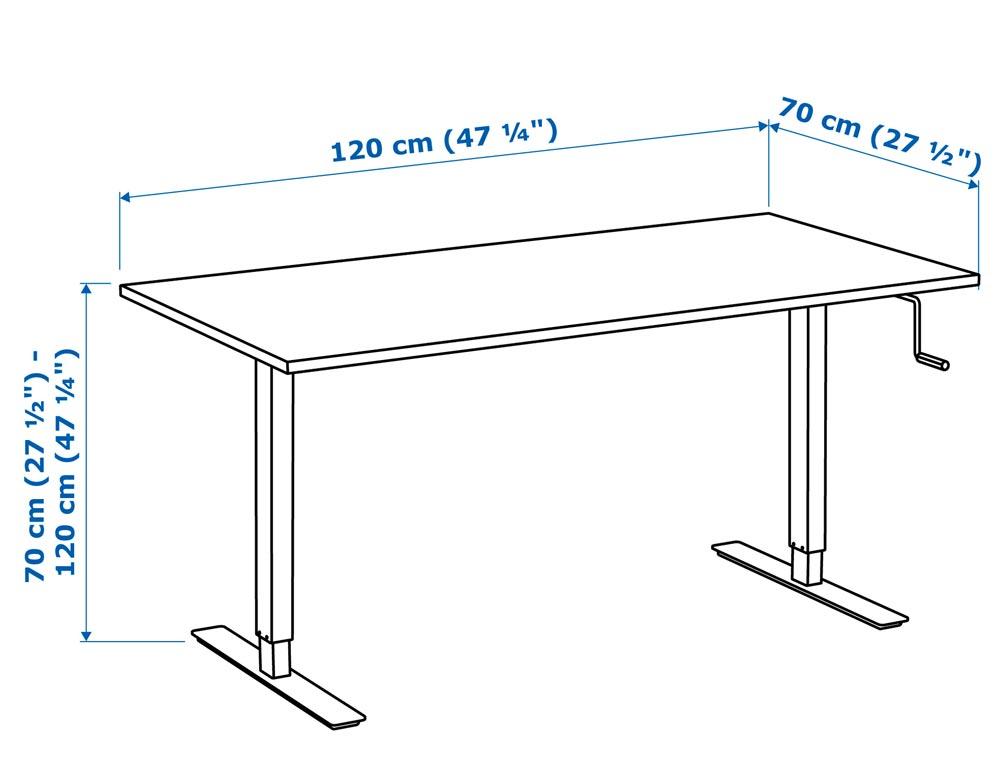 IKEA SKARSTA is a solid adjustable fullsize standing
