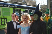 Ed Grey (Boq), Lucy Durack (Glinda) and Jemma Rix (Elphaba)