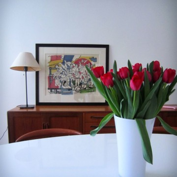 13 standing renovation brussels francesca puccio  parisian apartement detail flowers