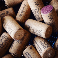 Photo of wine bottle corks