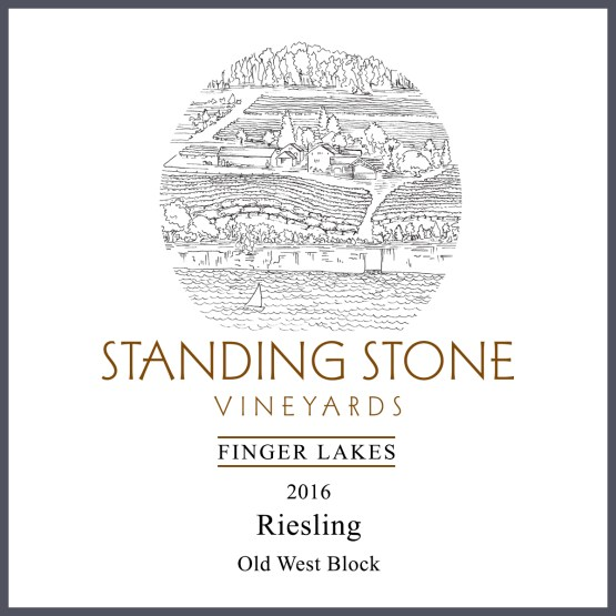 Riesling Old West Block 2016 label