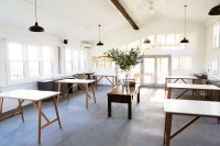 Photo of tasting room with six tables