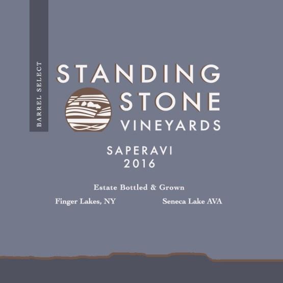 Barrel Select Saperavi 2016 label