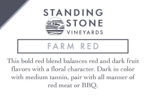 Farm Red Shelf Talker