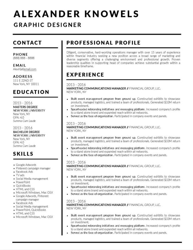 2018 free resume template apple