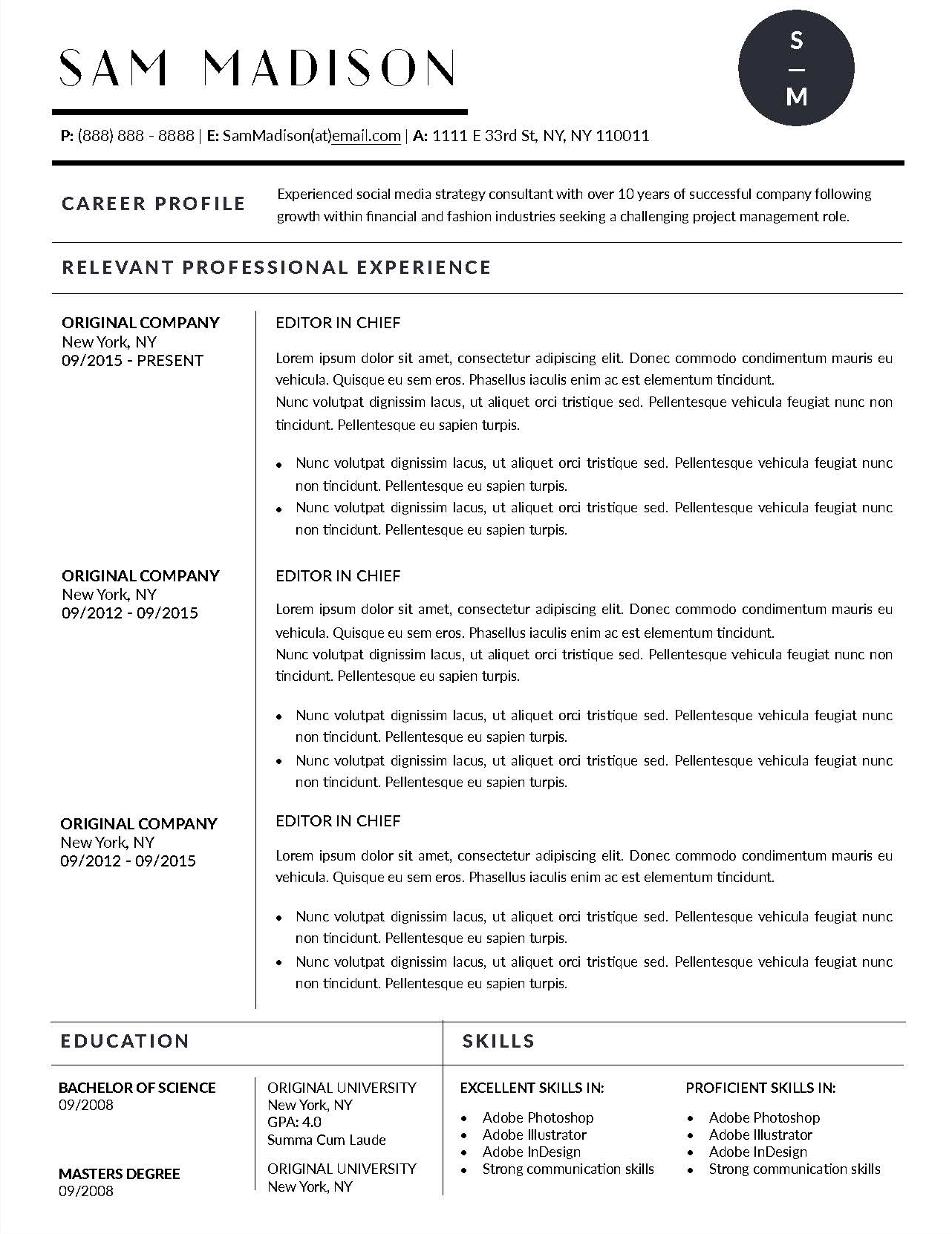 Job Winning Resume Templates for Microsoft Word  Apple Pages