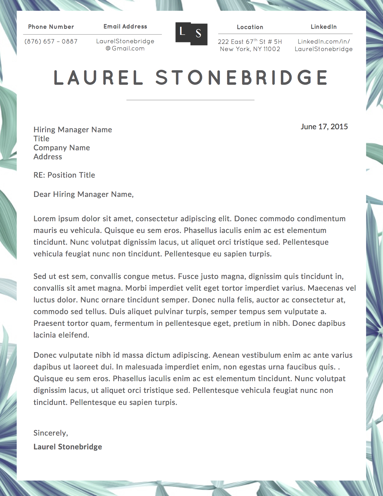 Hyperlink Email In Resume Laurel Stonebridge Resume Template Vol I Stand Out Shop