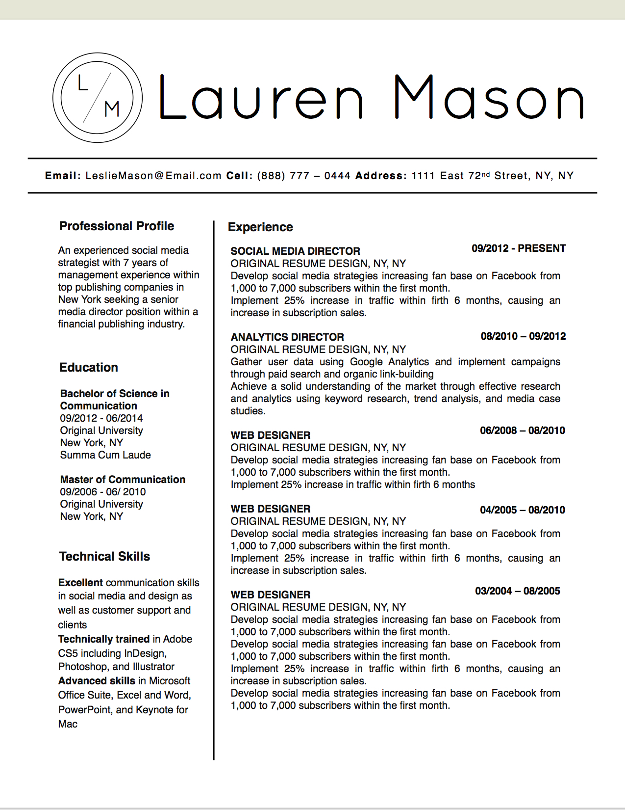 Other Name Of Resume Lauren Mason Resume Template Stand Out Shop