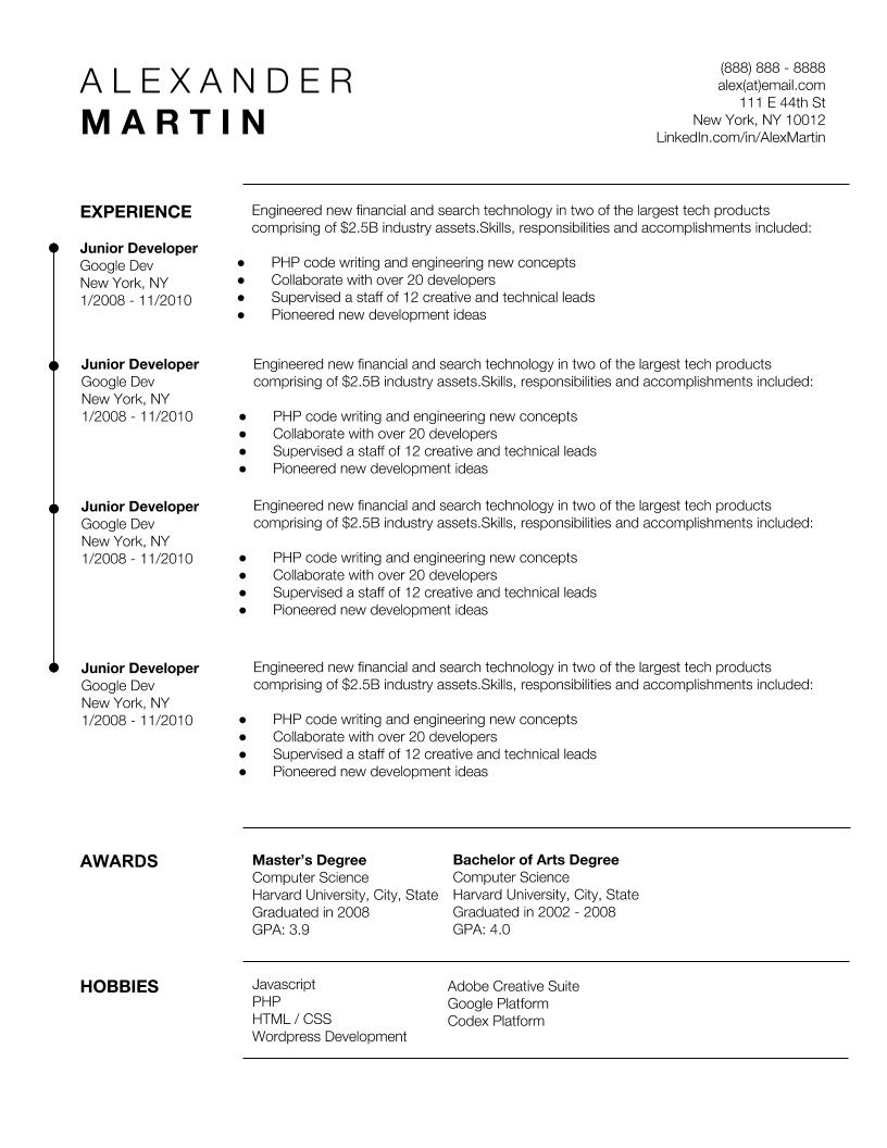 google docs resume template instant download