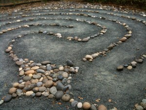 Stone labyrinth for walking meditation at St. Andrew's Presbyterian in Pleasant Hill, CA