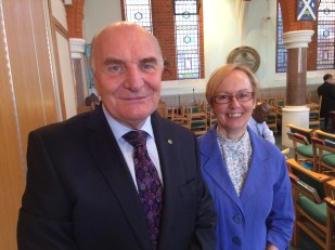 Stephen Pound MP with Rev Sue McCoan