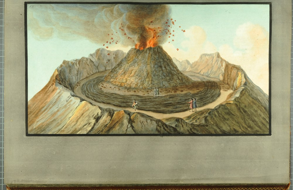 medium resolution of  interior view of the crater of mount vesuvius as it was before the great
