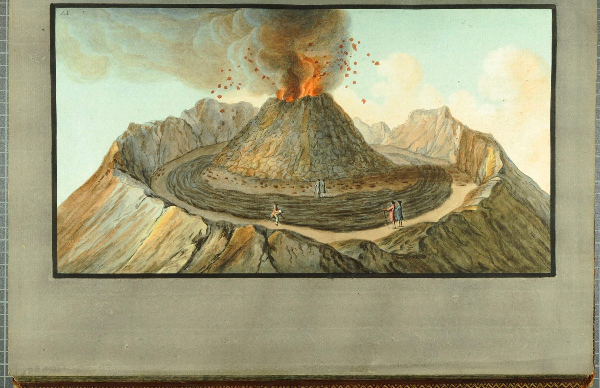 hight resolution of  interior view of the crater of mount vesuvius as it was before the great