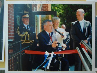 Lieutenant Governor David Onley opens new ramp. (this was actually a few years before 2013!)