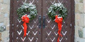 Wreaths on Door