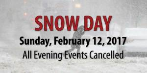 All Events Cancelled Due to Snow