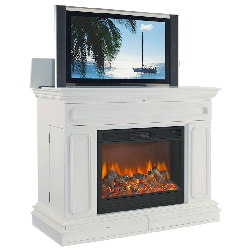 Corner Flat Electric Fireplace Object Moved