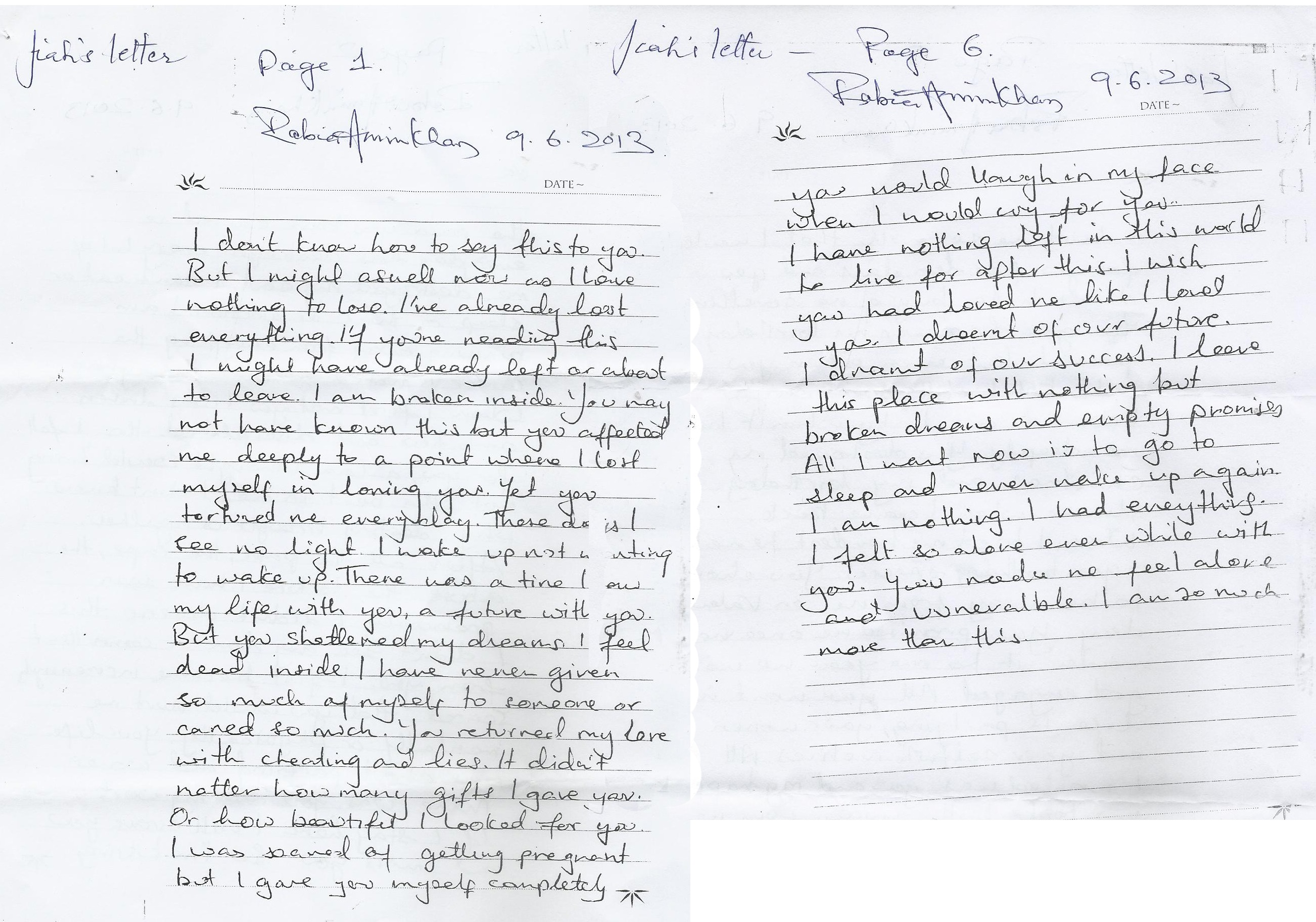 """EXCLUSIVE: Jiah Khan's """"suicide note"""" was a fake. Truth"""