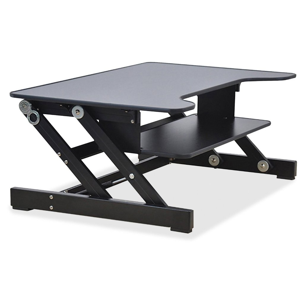 Lorell Sit To Stand Adjustable Monitor Desk Riser