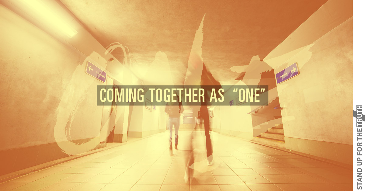 """Coming Together as """"One"""""""