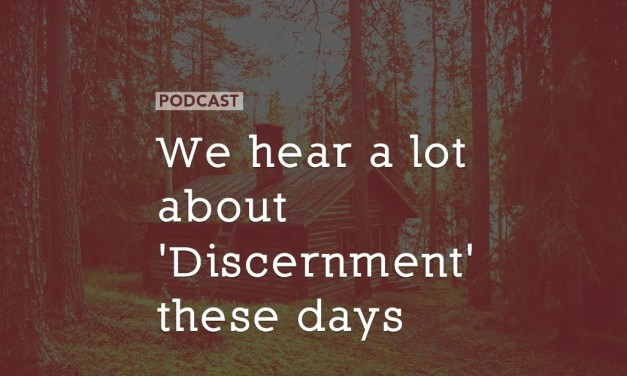 We hear a lot about 'Discernment' these days