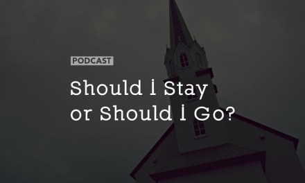 Should I Stay or Should I Go?