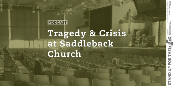 Tragedy And Crisis Saddleback Church - Stand