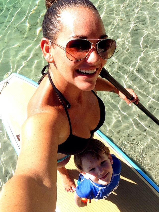 Lisa Thomas: Lisa and Bradley SUPing it up in Tequesta Florida's beautiful water!