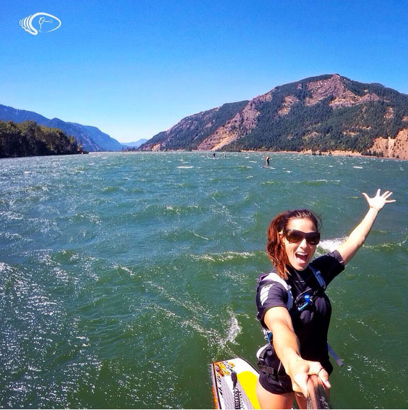 waveofwellness Why do I ever do anything else?! #downwinder #welivewater#columbiarivergorge
