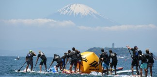 Mount Fuji provides the perfect backdrop to a magnificent day here at Zushi Beach, as Japan opens its arms to the 2016 World Series