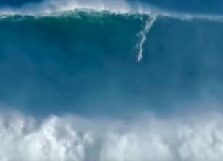 Compilation of the Biggest waves ever surfed at Nazare Portugal