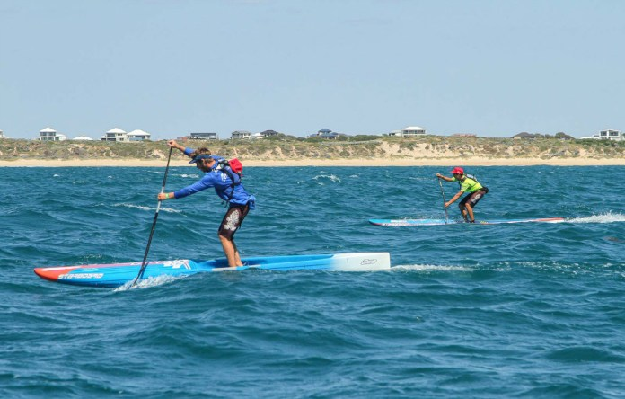 King of the Cut Australian stand up paddle race Clements Colmas and Matthew Nottage