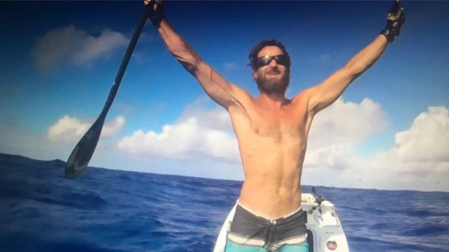 Chris Bertish arrives Antigua banner