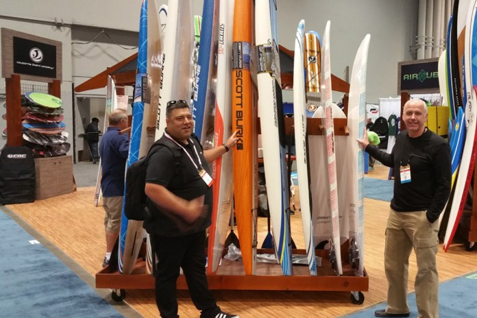 Scott Burke at Surf Expo Scott Burke Boards