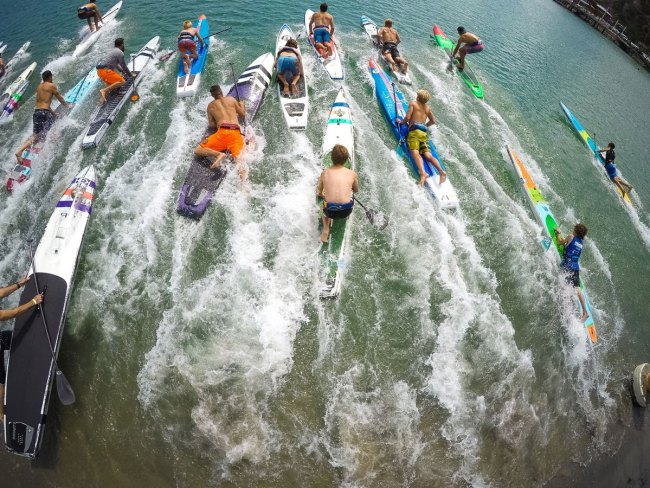 Men sup racers pacific coast paddle games