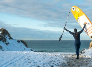 Fanatic Sup Surf Denmark winter banner