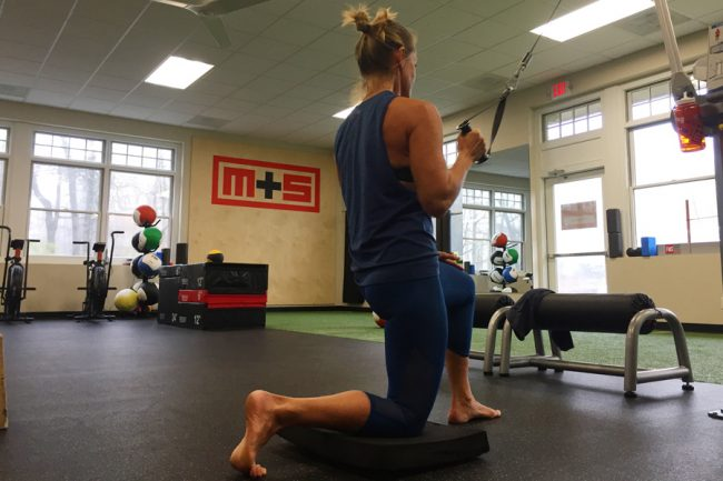 Muv Strong dy land strength training pull downs