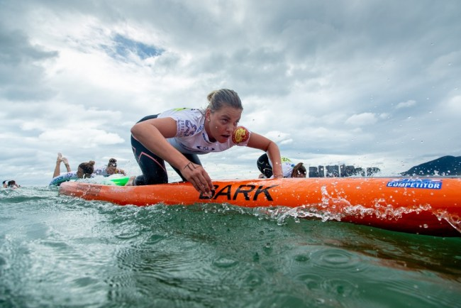 Grace Rosato ISA Worlds prone paddleboard