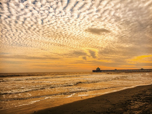 Alex Mauer foil sunset Folly Beach