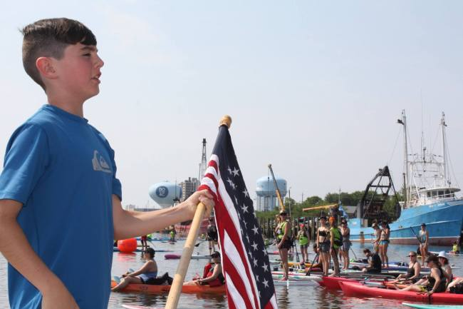 Dean Randazzo Cancer Foundation flag Paddle for a Cause