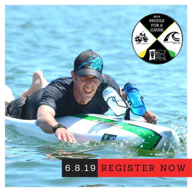 prone paddler dean randazzo cancer foundatoin paddle for a cause