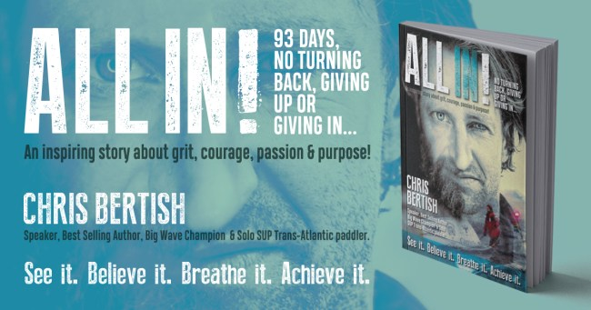 ALL IN Chris Bertish motivational book