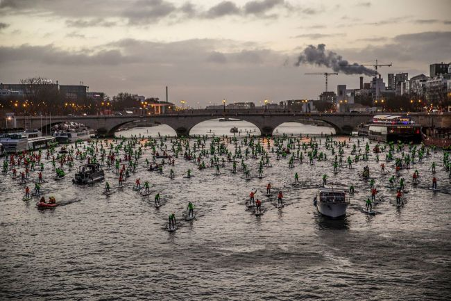 Paris-Seine River app world tour sup racing