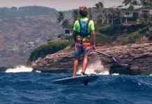 foiling Finn Jeffrey Spencer JL Media Maui